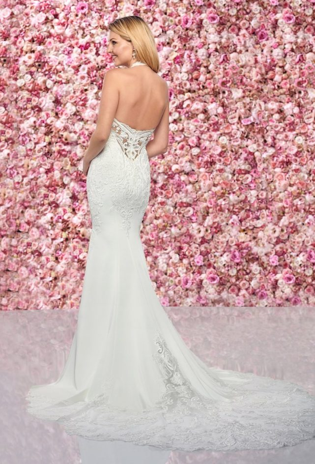 Bohemian Lace and Tulle Gown with V-Neckline